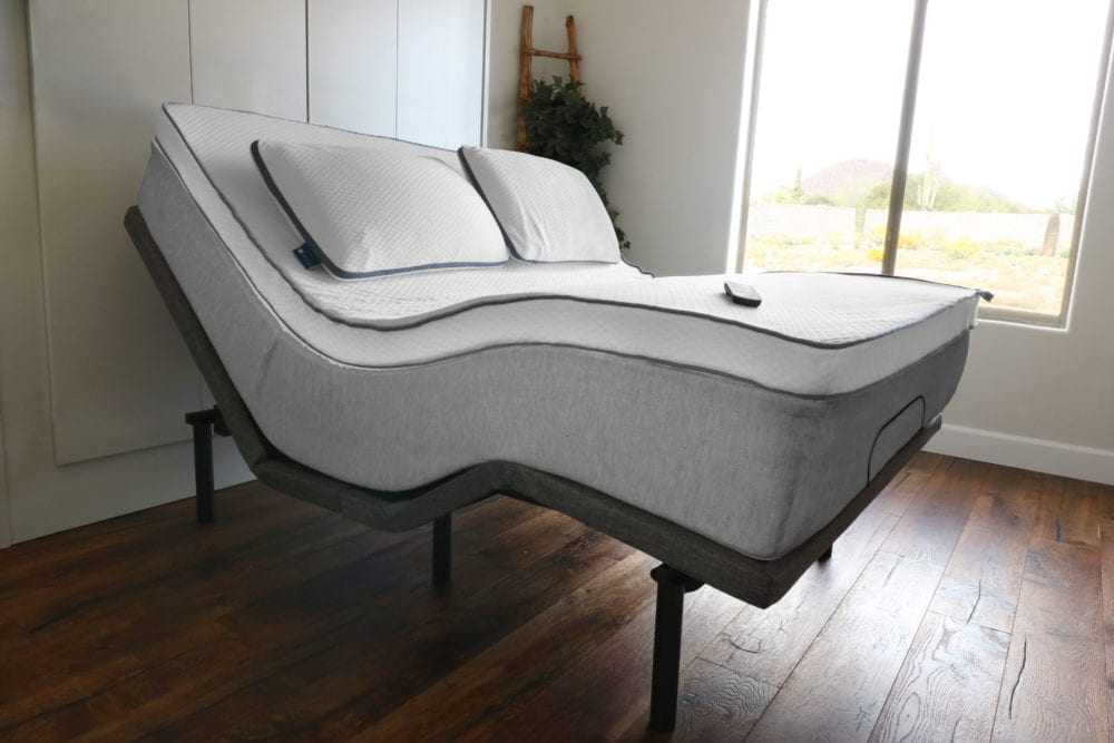 Naturally Nestled bedding and mattress base